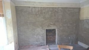 Damp proofing Limelite sand and lime heritage replacement plaster used around a converted coal fireplace Bournemouth Poole Weymouth Dorchester Blandford Swanage Wimborne Wareham Dorset