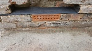 New Dpc fitted during cavity wall clean out to stop any future rising damp problems