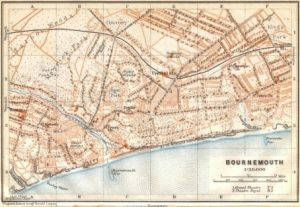 A map of old Bournemouth and where Local Materials Came From