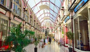 Victorian shopping parade in Bournemouth