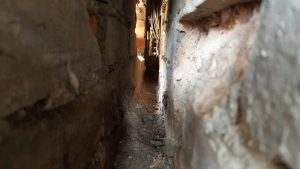 Penetrating damp specialist finds another blocked cavity causing Penetrating damp